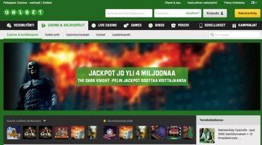Unibet casino - pelit ja tervetulobonus
