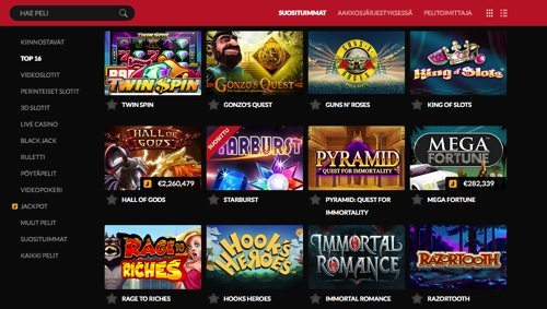 Guts suosituimmat casinopelit