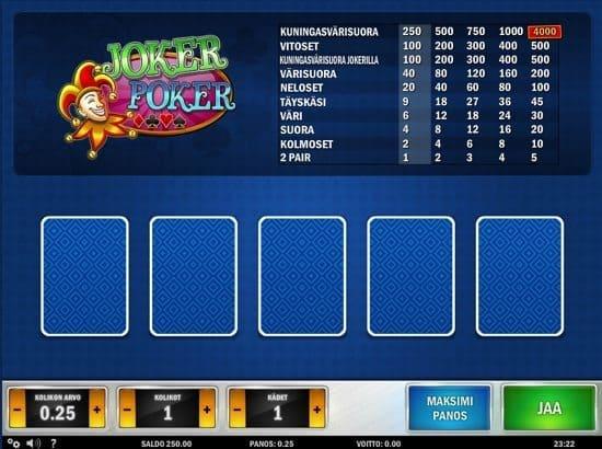 Joker Poker videopokeri