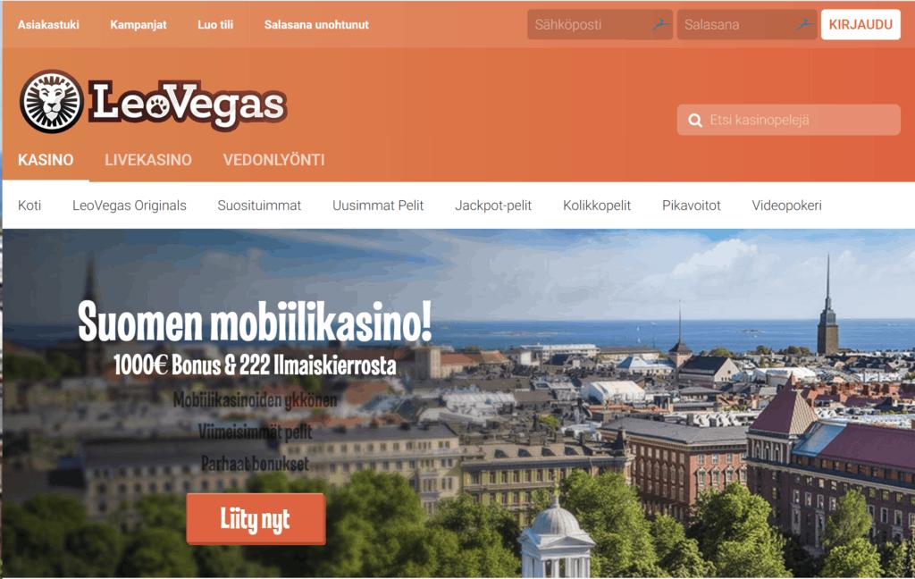 LeoVegas - Suomen paras mobiilikasino