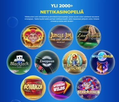 Ahti Games kasinopelit - yli 2000 kasinopeliä