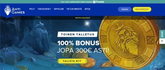 Ahti Games toinen talletus - bonus