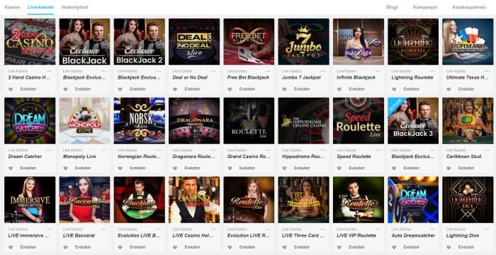 Nopeampi.com live-kasino